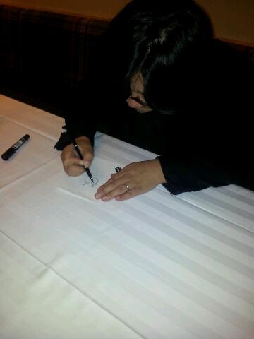 Mamoru Hosoda signing